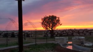 Sunrise or set at LLL Ranch